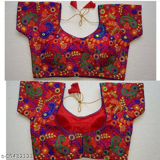 NAVRATRI Collection-Embroidery Work Ready Made Blouse