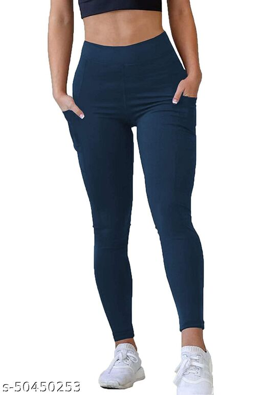 GNEALO mid Waist Solid Stretchable Ankle Length Workout Sports Tights Casual||Gym|| Active|| Yoga Wear for Women & Girls