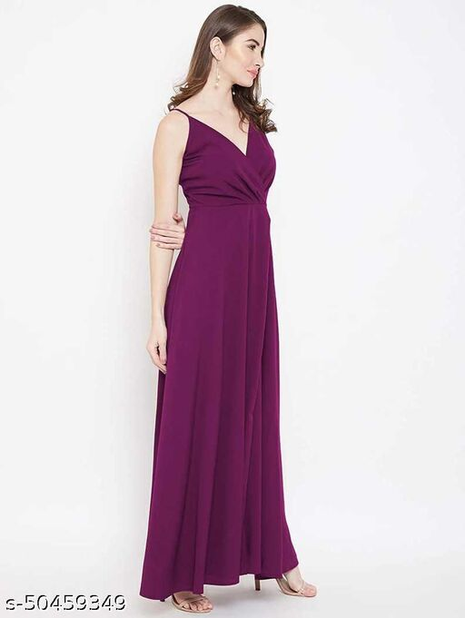 PREEGO Women Fit and Flare Purple Dress