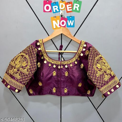 EXCLUSIVE NEW MAGGAM WORK READYMADE BLOUSE PRASHANG