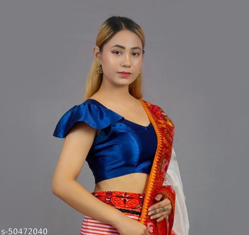 stylish satin designer blouse