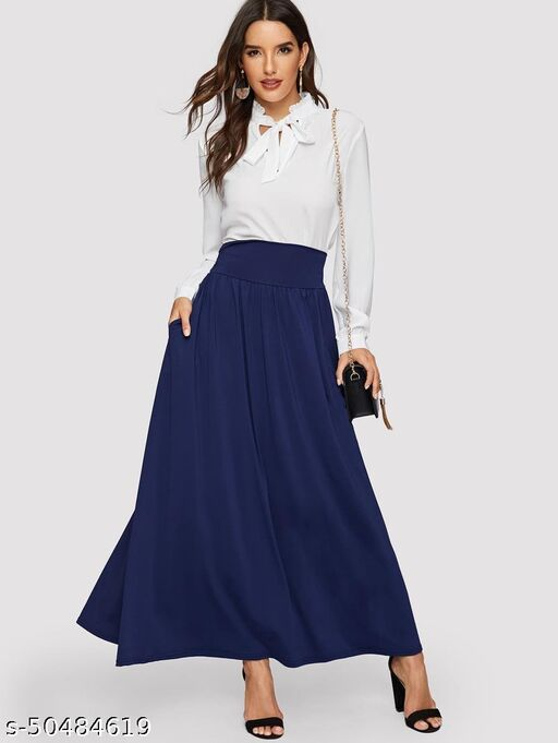 Pocket Side High Waist Skirt