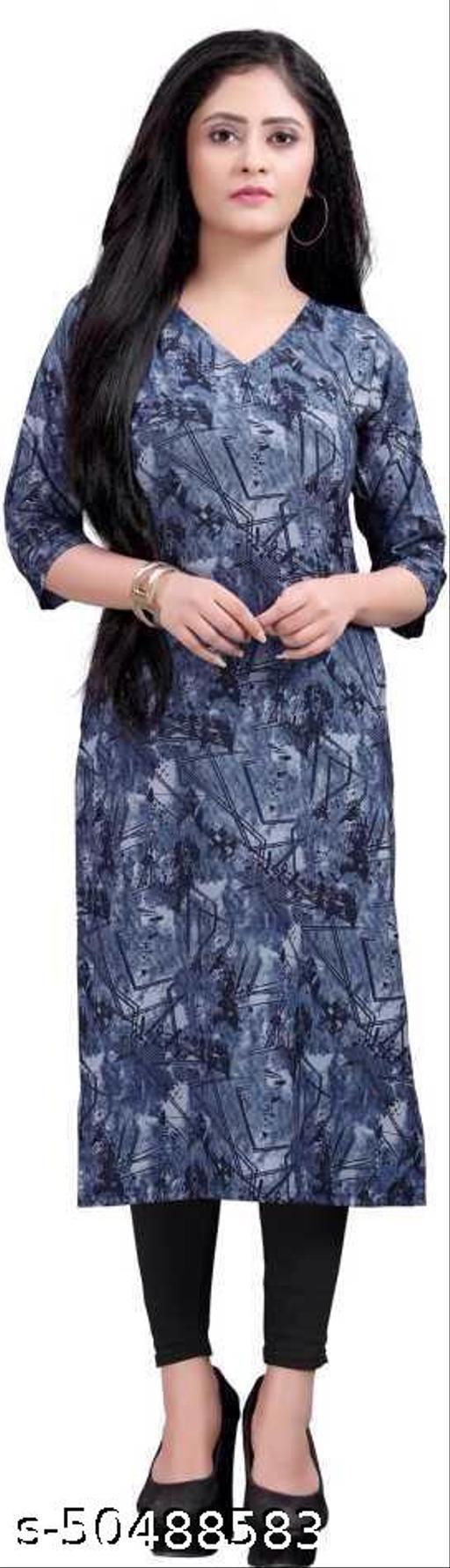 Crepe printed dress