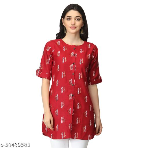 Diwali Special desinger Rayon sulb printed Tops for women
