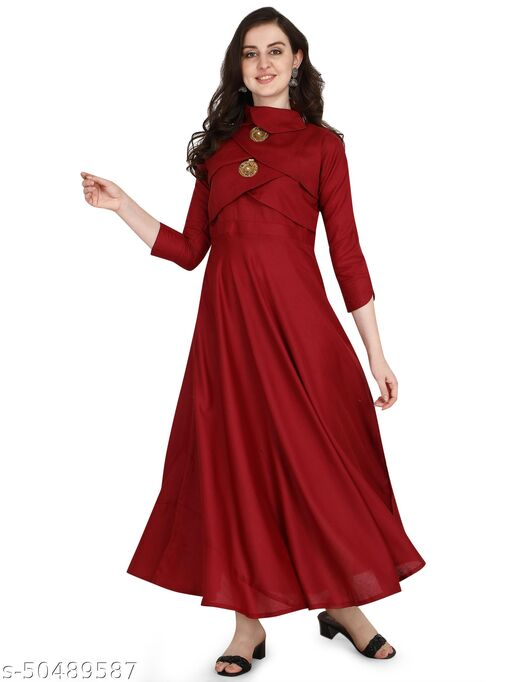 Diwali Special desinger Rayon sulb printed Gown for women