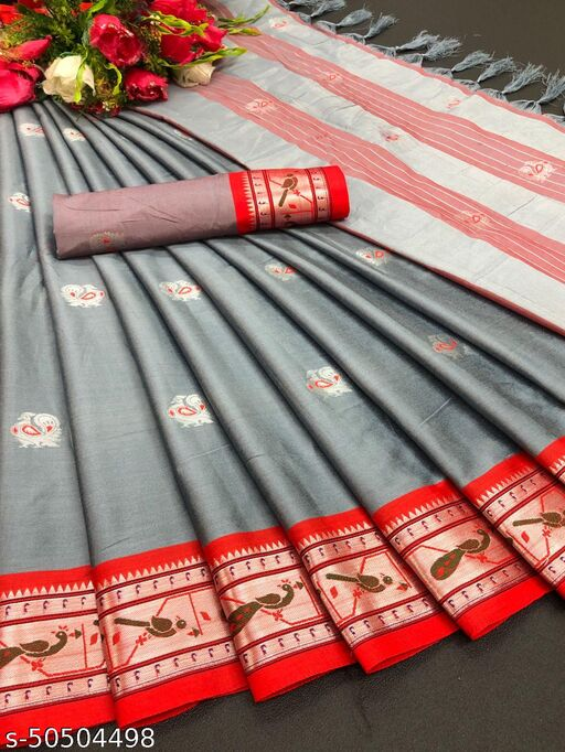 NEW LAUNCHED HEAVY COTTON SILK SAREE AT CHEAPEST PRICE (PREMIUM QUALITY)