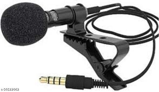 Collar Mic Voice Recording Filter Microphone for Singing, YouTube Compatible for All Smartphones Devices (Multi Colour)