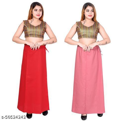 Riwaz Trendz Petticoat Inskirt For women in Latest Collection (Red, Dark Pink)
