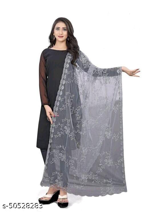 Grey Classy Attractive Women Dupatta