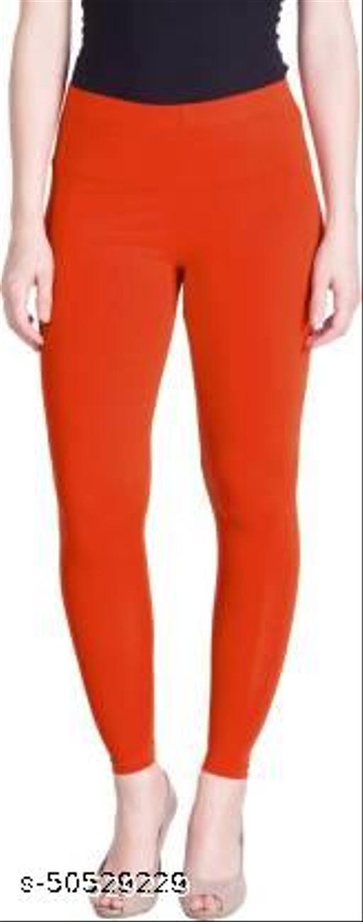 Kiyansh Ankle Length Ethnic Wear Legging Pack of 1 (Dark Orange)