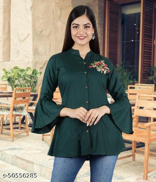 womens embroidery rayon shirt