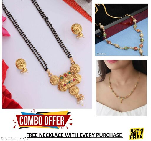 BEAUTIFUL DESIGNER MANGALSUTRA SET FOR WOMAN WITH FREE GIFT