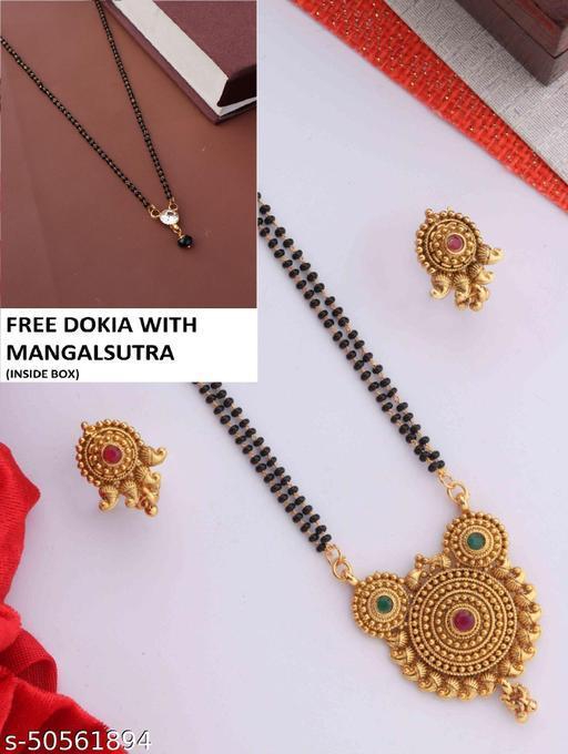 BEAUTIFUL DESIGNER MANGALSUTRA SET FOR WOMAN WI FREE GIFT