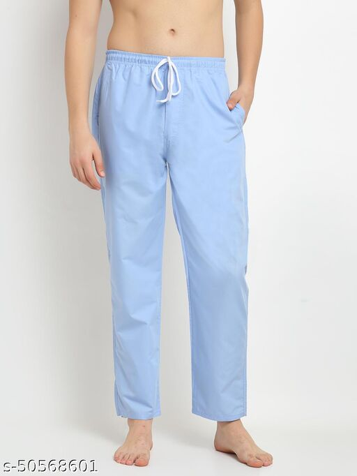 Men's Solid Cotton Lounge Pants