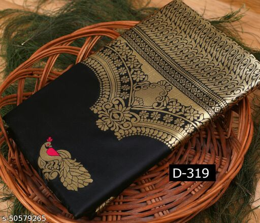 soft lichi silk with jaquard work