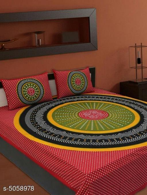 Modal Cotton 100X90 Double  Bedsheets