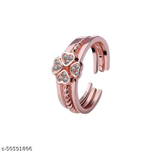 Destiny Jewels Rose Gold 3pcs Women Finger Ring Set
