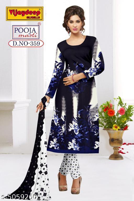 Latest Designer Un-Stichted Patiala Suit For Girls