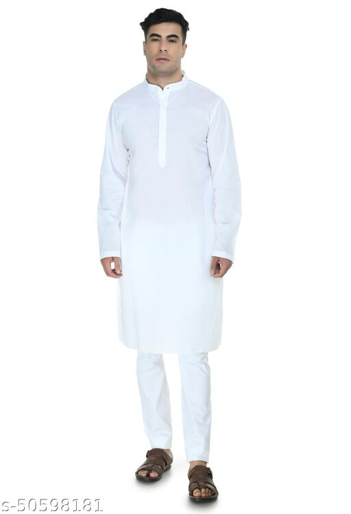 Design Trend Men's Premium Designer Linen Ethnic Kurta