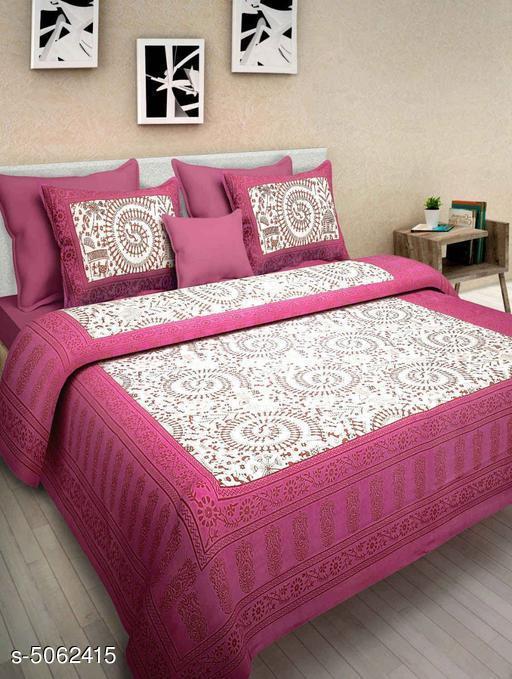 Elite Alluring Cotton 100 X 90 Double Bedsheet