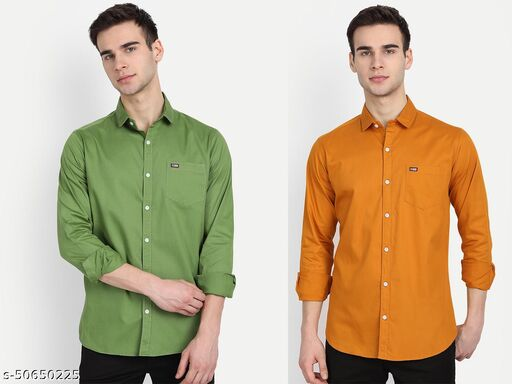 UNITED CLUB MEN'S COTTON SHIRTS PACK OF 2