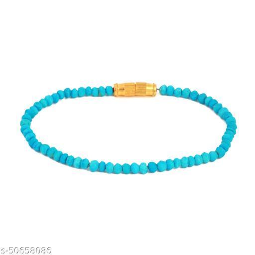 Ratnavali Arts Natural Howlite Gemstone Thread Bracelet For Woman