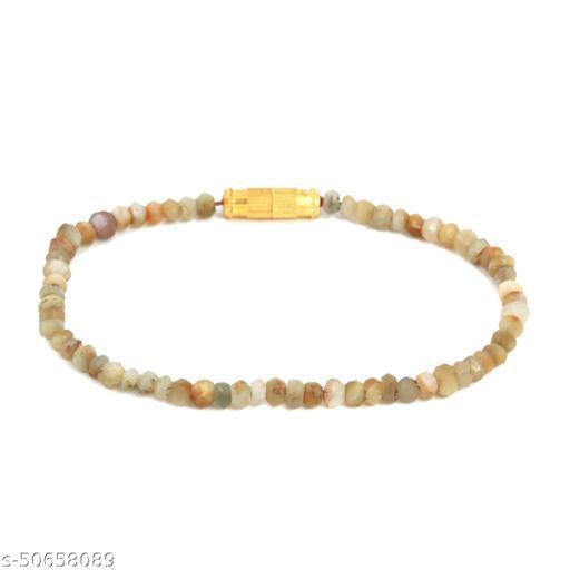 Ratnavali Arts Natural Moonstone Gemstone Thread Bracelet For Woman