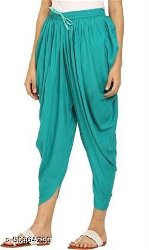 Apna store Seagreen Rayon Dhoti Patiala Salwar