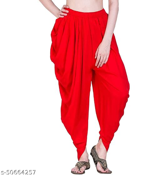 Apna store Red Rayon Dhoti Patiala Salwar