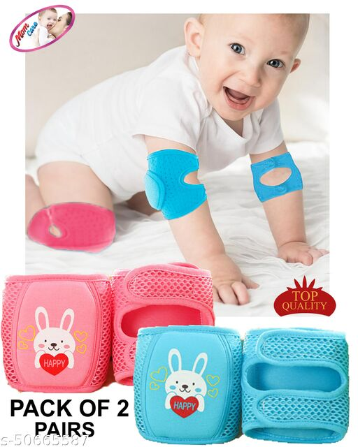 MOM CARE Baby Knee & Elbow Pad for Crawling,Toddlers, Infant, Girl, Boys, Safety Protector Comfortable Cap for Leg and Hand Ideal for 12-24 Months Babies.(Set of 2 Pair)
