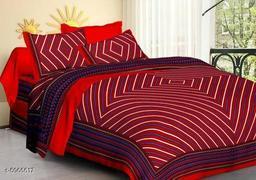 Attractive Cotton 100 X 90 Double Bedsheet