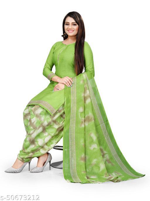 Anny Deziner Women's  Cotton Printed Unstitched Salwar Suit Material