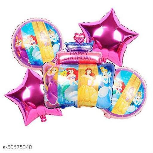 Neevaza 5 Pcs Barbies Character Foil Balloon for birthday theme Party Decoration - Boys/Girls