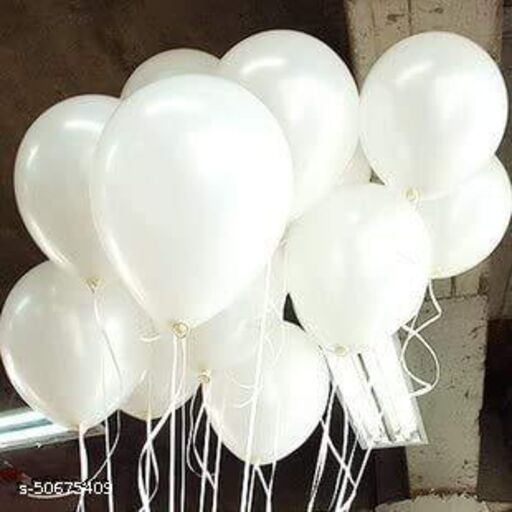 Neevaza Large Latex Balloon for Birthday/Anniversay decoration - Pack of 50 | White
