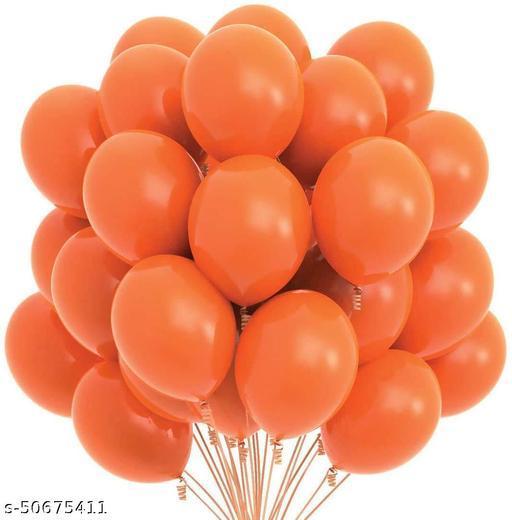 Neevaza Large Latex Balloon for Birthday/Anniversay decoration - Pack of 50 | Orange