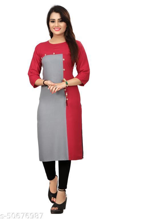 Rayon Plain Kurta For Women And Girls