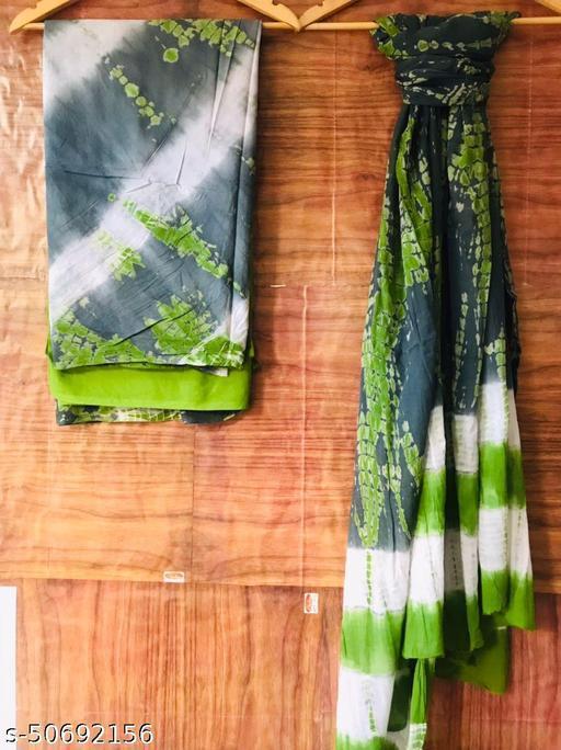 Kwatchi pure cotton mulmul shibori jaipuri suits trendy and fancy latest desgin for womens and girls