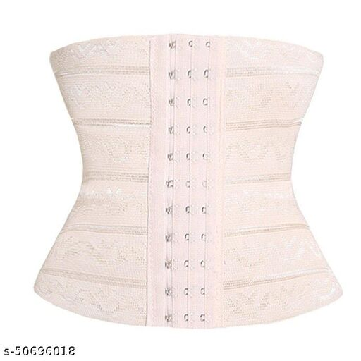 Air Breath Tummy Grip Belt Waist Trainer Trimmer and Slimming Corset 3 Hooks Girdle with Wire Support