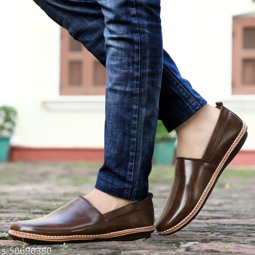 ESSENTIX Men's Synthetic Leather Loafers