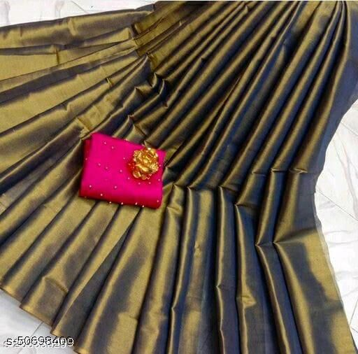 Multicolour Saree with beautiful two shades and patch work on blouse