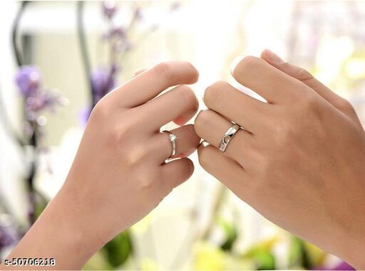Destiny Jewels Creative Couple Opening Adjustable Openwork Heart-shaped  Forever Love Diamond Ring