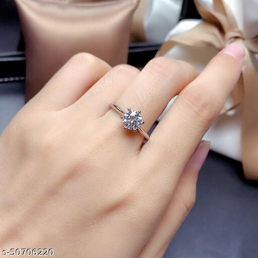 Destiny Jewels Opening Adjustable Six Claws Wedding Diamond Ring Couple Crystal Ring