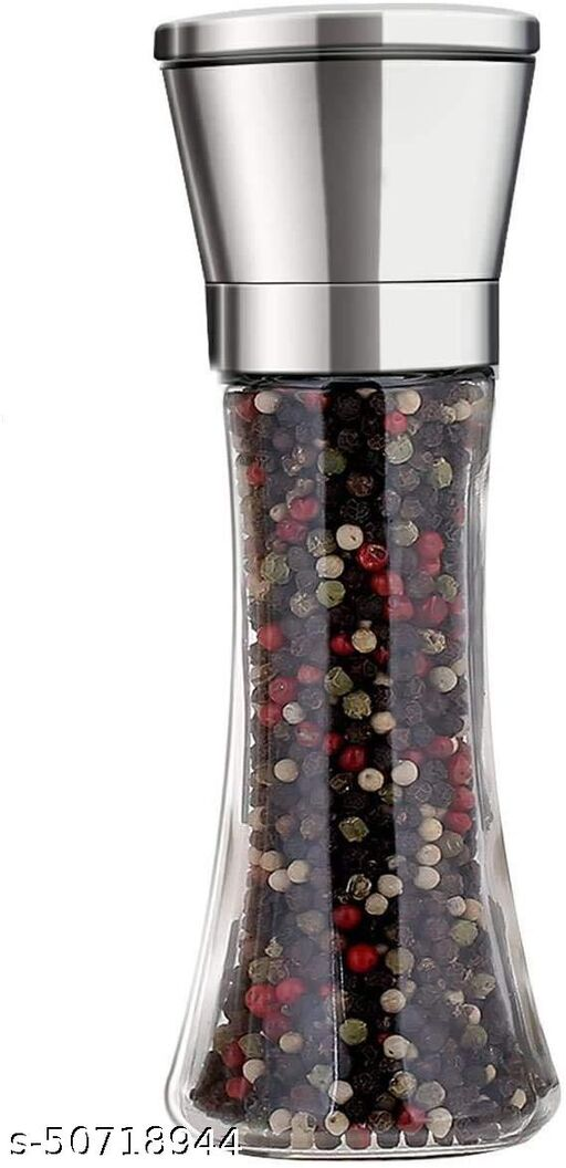 VORA Premium Stainless Steel Salt and Pepper Crusher Tall Salt and Pepper Mill Shakers with Adjustable Coarseness (Pack of 1)