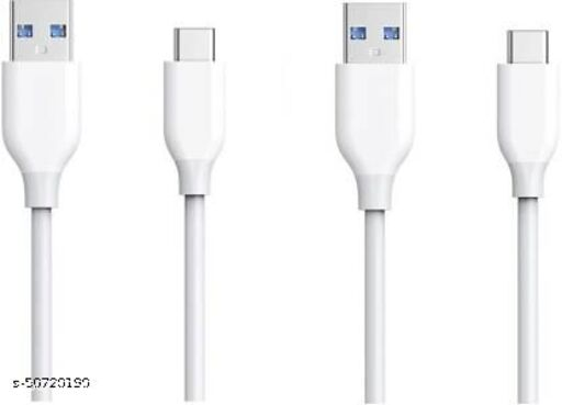 ABlue Clipper 3.1A (15W) Type-C Data & Fast Charging USB Cable White 2