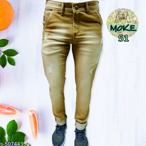 moke jeans 51 heavy fully strechable light colours mid rise with damaging