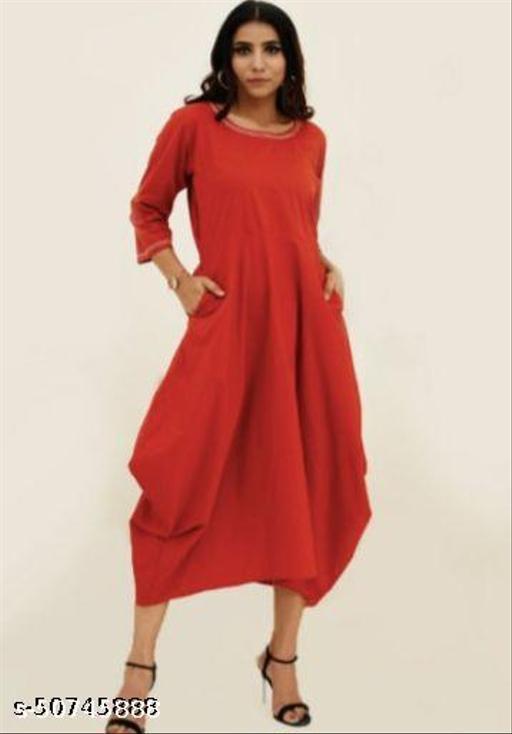 Rust Assymetrical Dress