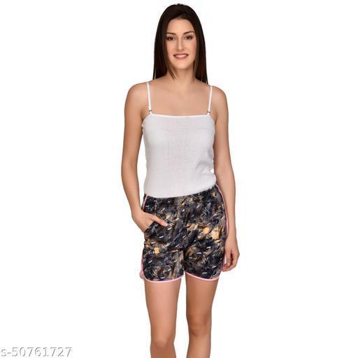 U-Light Kavya Printed Women'S & Gilr'S Blue Shorts