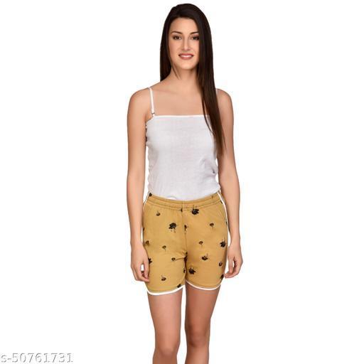 U-Light Kavya Printed Women'S & Gilr'S Shorts