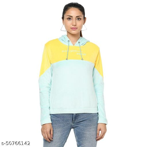 Lubove Super Soft Fabric Women Hooded Sweatshirt
