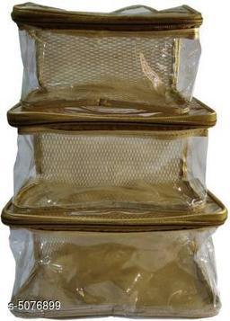 Set of 3 Vanity Storage Cases - Golden